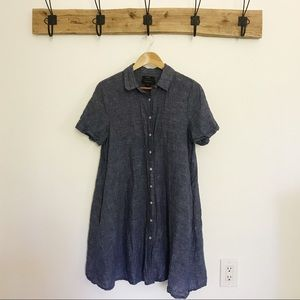 TAHARI 100% linen dress